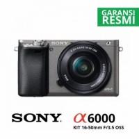 Sony Alpha A6000 Kit 16-50mm f/3.5-5.6 OSS. Graphite (Terlaris)