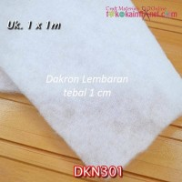 DKN301 Dakron (Dacron) Lembaran tebal 1cm uk. 1 x 1 m