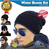 TOPI KUPLUK WOOL IMPORT MUSIM DINGIN / WINTER HAT / BEANIE HAT