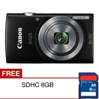 KAMERA DIGITAL Canon IXUS 160 20 MP 8x Optical Zoom Hitam Bonus SDHC