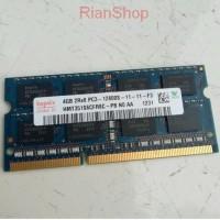 RAM laptop SODIMM DDR3 4GB 2Rx8 PC3 12800 S Hynix