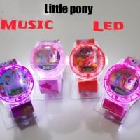 Jam tangan anak perempuan LED + musik Little pony