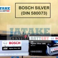 Aki kering mobil merk BOSCH SILVER 58024 580073 di Tangerang