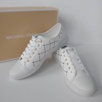 SEPATU MICHAEL KORS ORIGINAL - MK City Sneaker Lasered Leather Optic