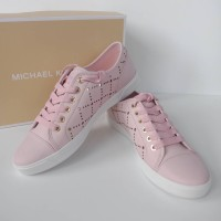 SEPATU MICHAEL KORS ORIGINAL - MK City Sneaker Lasered Leather Blossom