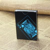 Kartu Remi Plastik Anti Air Waterproof - Black