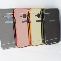 SAMSUNG GALAXY V G313 ACE 4 ALUMINUM BUMPER MIRROR HARD BACKCASE