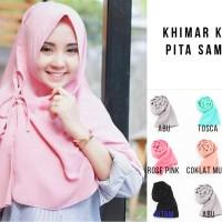 Kanza Khimar Hijab instan Jilbab Kerudung Khimar Pita Hijab Murah