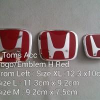 Emblem Logo Mobil Logo Honda Red JDM Style Jazz Freed CRV Civic FD1 B