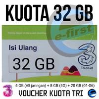 Voucher Three 4GB Kuota Internet 3 data Tri 4 GB 24 Jam + Pulsa 10rb