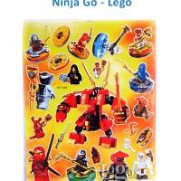 Jual Sticker Ninja Go Lego movie Stiker reward anak hadiah Batman superhero Murah