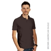 Kaos Polo Pria Men Polo Shirt (Brown American Eagle) MURAH