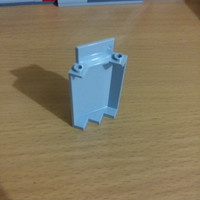 Lego part : Panel 3 x 3 x 6 Corner Wall without Bottom Indentations