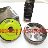 Paket Kampas Ganda USR + Mangkok Ganda KTC CNC For Aerox 155-Nmax-Lexi
