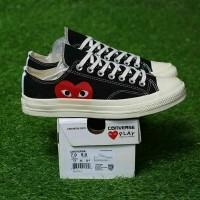 sepatu Converse cdg x play premium bnib cowok casual black white murah