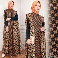 kaftan / jubah batik pesta + inner maxi
