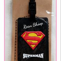 Luggage tag koper gantungan id label nama koper tas karakter superman