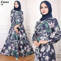 Maxi Emma (38) Baju Muslim Wanita Gamis Model Kekinian Terbaru