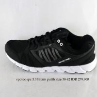 spotec spc 3.0 sepatu kets pria hitam putih