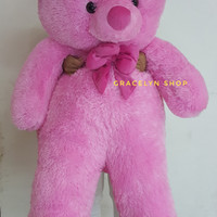 Boneka teddy bear super jumbo pink