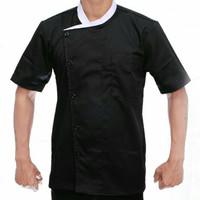 baju chef pria/wanita lengan pendek