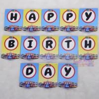 Banner HBD Mobil Bus Tayo - Bunting Flag Tulisan Happy Birthday