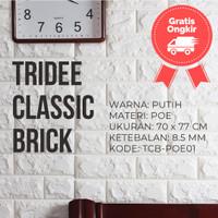 Wallpaper Foam 3D Bata Putih White Brick Panel TRIDEE CLASSIC BRICK