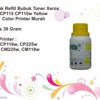 Serbuk Refill Bubuk Toner Xerox CP115 CP115w Yellow Color Printer