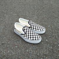 Vans Slip On Classic Checkerboard Black White ORIGINAL