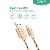 Kabel Data ZOLA EPIC iPhone Lightning Fast Charge 2.1A - Gold