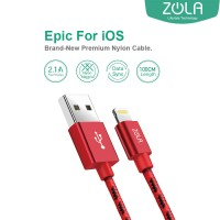 Kabel Data ZOLA EPIC iPhone Lightning Fast Charge 2.1A - Red