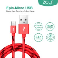 Kabel Data & Charging Mikro USB ZOLA EPIC Fast Charge 2.1A - Red