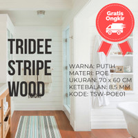 Wallpaper Foam 3D Motif Kayu Putih | White Wood | TRIDEE STRIPE WOOD