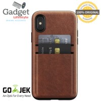 Original Nomad Horween Wallet iPhone X Case - Brown