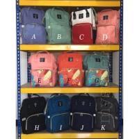 Tas diaper anello backpack / tas bayi / tas popok hitam navy grey