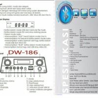 Speaker Aktif Bluetooth Portable Karaoke And Radio Dazumba DW186