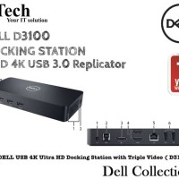 Dell Docking UHD 4K USB 3.0 Replicator D3100