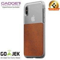 iPhone X Case - Nomad Horween Leather Clear Case - Brown