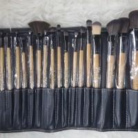 BOBBI TALI - Dompet isi 24 Kuas Kayu Premium Bobbi Brown Brush Set