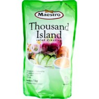 MAESTRO MAYONAISE THOUSAND ISLAND POUCH 1KG