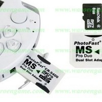 GOOD QUALITY PhotoFast (Adapter Dual MicroSD to Memory Stick Pro Duo)