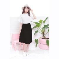 Baju Fashion Wanita Premium Jfashion Rok Plisket panjang selutut -