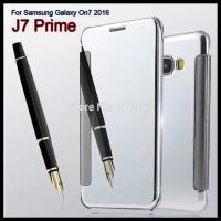 FOR SAMSUNG J7 PRIME | ON7 MIRROR FLIP AUTOLOCK BACK CASE HP