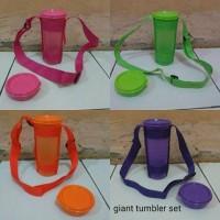 giant tumbler set gelas tupperware set 3in1