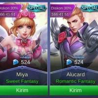Skin Mobile Legend Alucard Miya Valentine edition