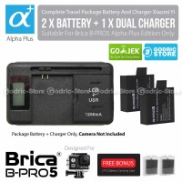 Complete Set Baterai Charger Original Brica B-PRO 5 Alpha Plus (AP)