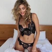 Sexy Lingerie Set Open Bra Panties Renda Seksi Underwear Import Top