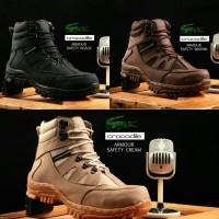 sepatu pria boots crocodile armour safety original traking