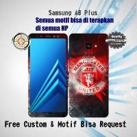 Garskin HP Samsung A8 Plus motif Logo MU - motif bisa request