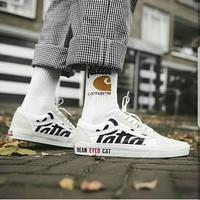 Vans Old Skool Patta  White  Premium Original / sepatu running